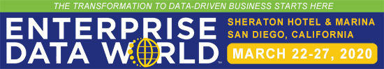 Enterprise Data World in San Diego, CA on Mar. 22, 2020